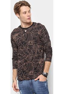 Camiseta Cavalera Metal Masculina - Masculino-Preto