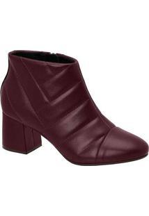 Ankle Boots Feminina Conforto Modare Matelassê Vin