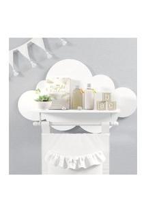 Prateleira Nuvem Branco Quarto Bebê Mdf Varáo Gráo De Gente Branco