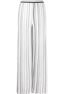 Missoni Calça Cintura Alta Com Pregas - Branco