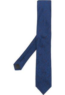 Dolce & Gabbana Gravata Jacquard Floral - Azul
