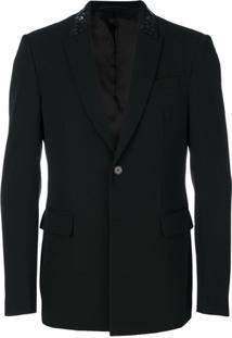 Givenchy Blazer Com Aplicação Nas Lapelas - Preto