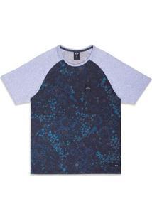 Camiseta Oakley Especial Flower Gear Raglan Sp Tee - Masculino-Azul