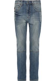Calça Jeans Reserva Reta Desfiada Azul
