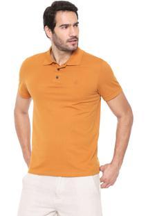 Camisa Polo John John Reta Basic Caramelo