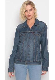 Jaqueta Jeans Com Pespontos- Azul Escurolevis