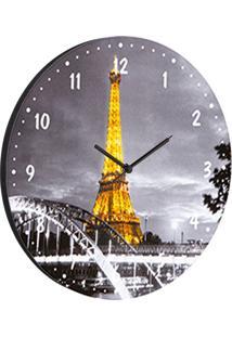 Relógio De Parede Paris Cinza