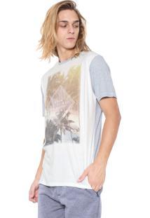 Camiseta Hd Estampada Azul/Off-White