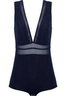 Body Le Lis Blanc Recortes Amanda (Dark Blue, Pp)
