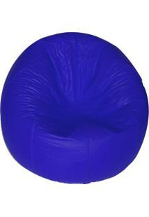 Puff Redondo Pop Azul Royal