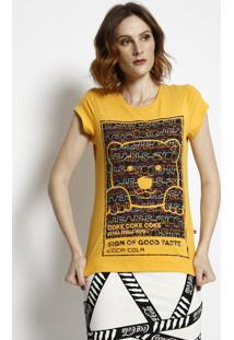 Camiseta Urso Com Aroma - Amarela & Preta - Coca-Colcoca-Cola
