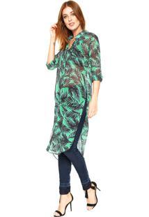 Camisa Lez A Lez Alongada Verde
