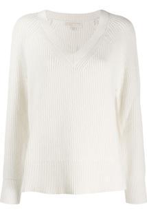 Michael Michael Kors Oversized V-Neck Sweater - Branco