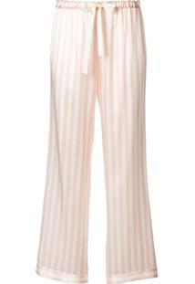 Morgan Lane Calça De Pijama Chantal Listrada - Rosa