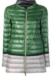 Herno Colour-Block Puffer Jacket - Green