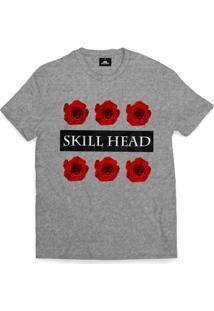 Camiseta Skill Head Roses - Masculino