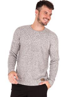 Suéter Side Walk Blusa Tricot Lipe Cinza