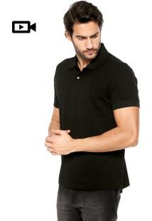 Camisa Polo Zoomp Bordado Preta