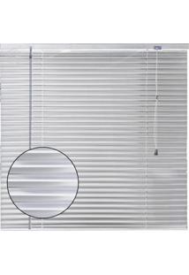 Persiana Horizontal Em Alumínio 25Mm Microperfurado 1,60Larg X 1,60Alt Branca