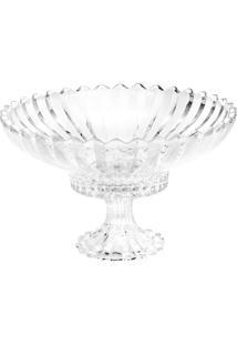 Fruteira De Cristal Com Pé Geneva 31,7X31,7X19Cm - 3,15Kg - Unissex