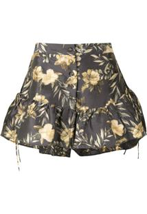 Sir. Short Com Estampa Floral Carmen - Estampado