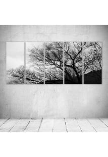 Quadro Decorativo - Black White Tree - Composto De 5 Quadros - Multicolorido - Dafiti