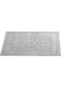 Tapete De Banheiro Neo Cotton Artesano- Branco- 60X4Camesa