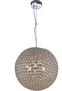 Pendente Startec Krystal Ball 45Cm X 45Cm X 1,00M Cristal