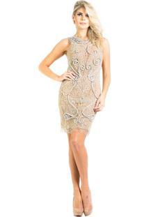 33e3808c6 Vestido Bordado Pedra feminino