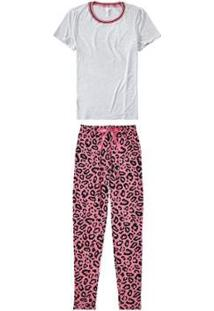 Pijama Longo Oncinha Malwee Liberta Malwee Liberta Feminino - Feminino