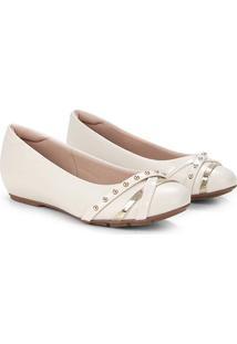 Sapatilha Modare Spikes Feminina - Feminino-Branco