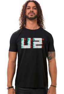 Camiseta Masculina U2 Fuzz Preto B
