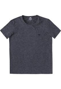Camiseta Básica Masculina Mangas Curtas Com Bordado