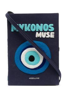 Olympia Le-Tan Clutch Livro Mykonos Muse - Azul
