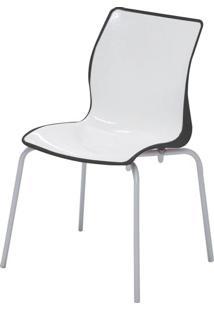Cadeira Maja Cor Preto Com Branco - 21739 - Sun House