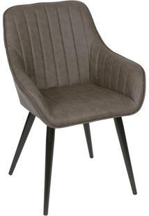 Cadeira Florença- Café & Preta- 84X60X41,5Cm- Oror Design