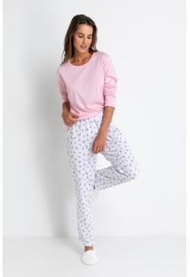 Pijama Manga Longa Acuo Pijama Manga Longa Rosa