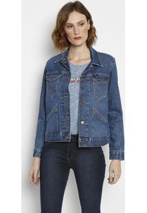 Jaqueta Jeans Retrô Estonada - Azulwrangler