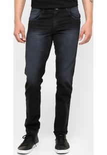 Calça Jeans Preston Estonada Black - Masculino