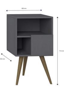 Criado Mudo 1 Porta Retrô Be Mobiliário Espresso