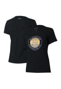 Camiseta Especial Fem. Jeep Round - Preta