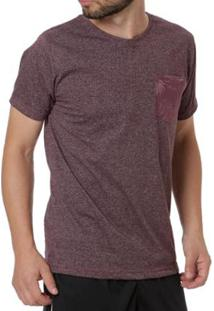 Camiseta Mx Zero Manga Curta Masculina - Masculino-Bordô