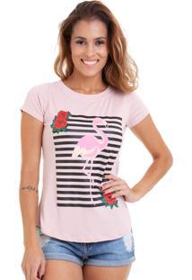 Blusa Kinara Malha Flamingo Rosa