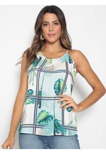 Blusa Folhagem- Off White & Azul Claro- Seduã§Ã£O Dresseduã§Ã£O Dress