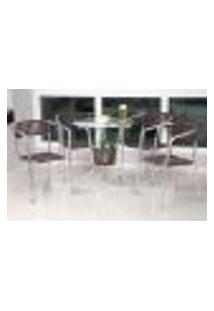 Mesa Com 4 Cadeiras Para Área Gourmet, Área Externa E Área Interna - Sarah Móveis