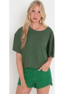 Blusa Com Recortes- Verde Escuro- Colccicolcci
