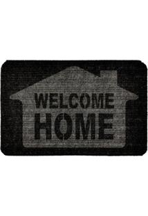 Capacho Carpet Welcome Home Cinza Único Love Decor