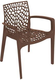 Cadeira Gruvyer Com Braço S6626 – Or Design. - Café