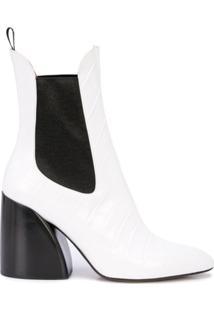 Chloé Ankle Boot Wave - Branco