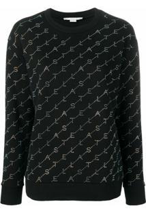 Stella Mccartney Blusa De Moletom Com Logo - Preto